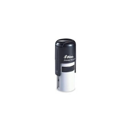 Stamp Shiny R517 Round 17Mm Black