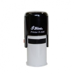 Stamp Shiny R524 Round 24Mm Black