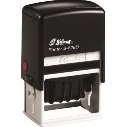 STAMP SHINY S828D 56X33MM DATER PRINTER BK/RED