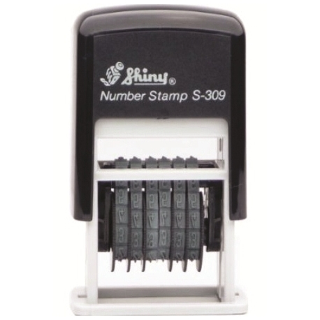 Stamp Shiny S309 Numberer Stamp 6-Band Black
