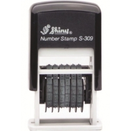 STAMP SHINY S309 NUMBERER STAMP 6-BAND BLUE