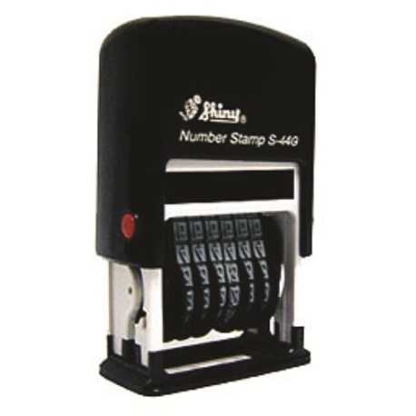 Stamp Shiny S449 Numberer Stamp English 9-Band Black