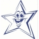 Stamp Shiny Hs022 Pre-Inked Smiling Star Blue