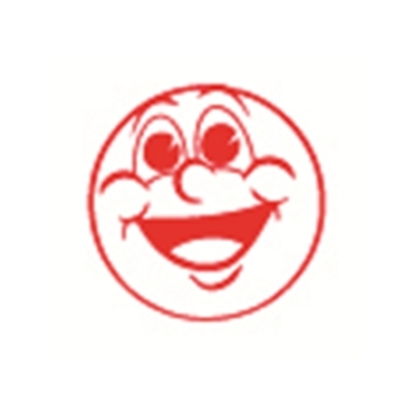 Stamp Shiny Hs023 Pre-Inked Smiling Face Blue