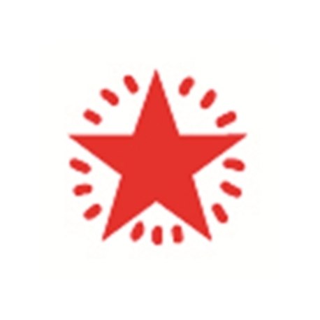 Stamp Shiny Hs014 Pre-Inked Star Red