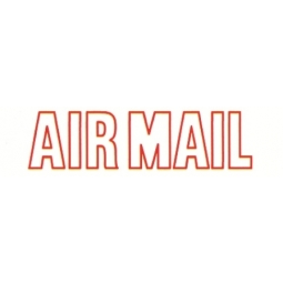 Stamp Shiny Na-02 Pre-Inked Air Mail Red