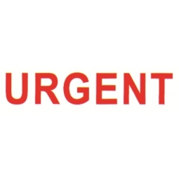 Stamp Shiny Nu-03 Pre-Inked Urgent Red