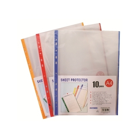 Folder Punched I Binder A4 10/Pack Blue Edge Sp-214