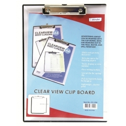 CLIP BOARD I-BINDER A4 TRANSPARENT CC-559