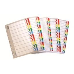 Divider Bindermax A4 Cardboard Paper Mylar Coating 1-20 Ma-120
