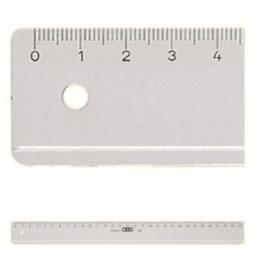 Ruler M+R Plastic 16Cm Clear Transparent 1116 0000
