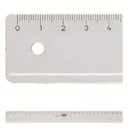 RULER PLASTIC M+R 1116 0000 SIZE 16 CM CLEAR TRANSPARENT