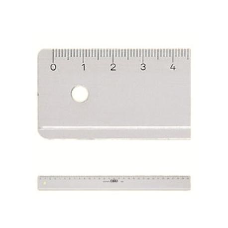 Ruler Plastic M+R 1150 0000 Size 50 Cm Clear Transparent