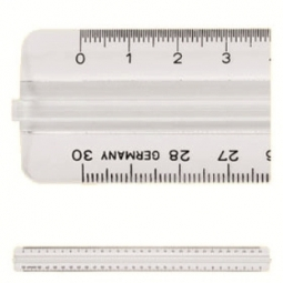 RULER PLASTIC M+R 1330 0000 SIZE 30 CM W/GRIP TRANSPARENT