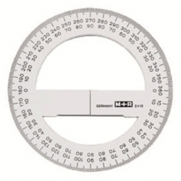 RULER PROTRACTOR M+R 360 10CM TRANSPARENT 2410 0000