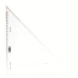Ruler Triangular Square M+R 45 Degree 36Cm Transparent 4736 0020