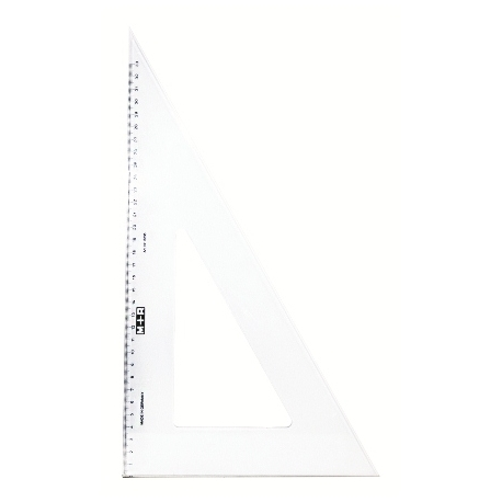 Ruler Triangular Square M+R 60 Degree 41Cm Transparent 6236 0020