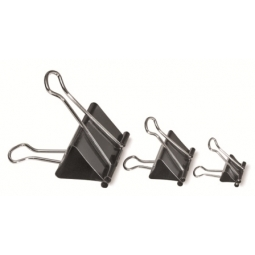 BINDER CLIP PRAISE 19MM 12PCS/PACK BLACK 85019