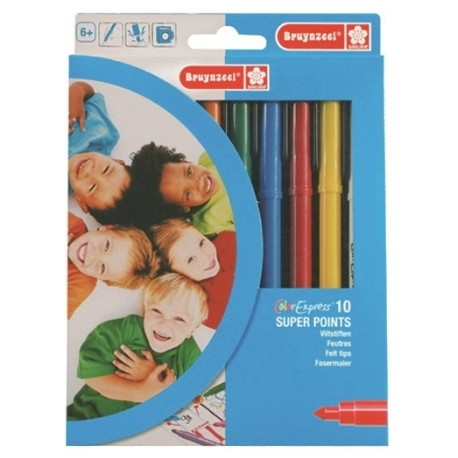 Felt Pen Bruynzeel Super Points Set 10 Tips 3001K10C