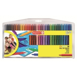 FELT PEN BRUYNZEEL WALLET 30 TIPS WASHABLE 7001Z30C