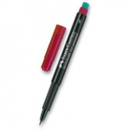 PERMANENT MARKER FABER OVERHEAD 1523 S RED