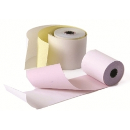 PAPER ROLL 2 COPIES NCR 75 65MM (BOX OF 75 ROLLS)