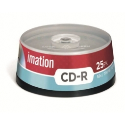 CD IMATION RECORDABLE 80MIN 700MB 52X BULK 25PCS