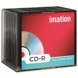 CD IMATION RECORDABLE 80MIN 700MB 52X SLIM BOX