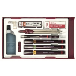 ROTRING COLLEGE SET 699450 0.2 0.4 0.6+ACCESSORIES+COMPASS