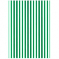 Cardboard Jansen Stripes 50X70 300G 305280.50 White/Green