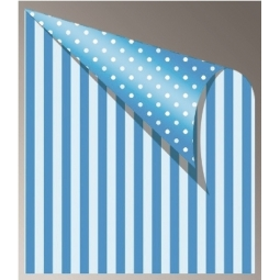 Cardboard Jansen Dots Stripes 50X70 300G 305320.30 Blue