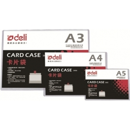 FOLDER DELI PVC A4 CARD CASE RIGID 5806