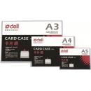 Folder Deli Pvc A4 Card Case Rigid 5806