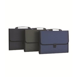 EXPANDING FILE DELI PP A4 12 POCKETS W/HANDLE 5556