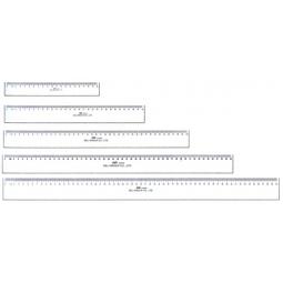 Ruler Deli Plastic 50Cm 6250