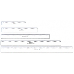 Ruler Deli Plastic 60Cm 6260
