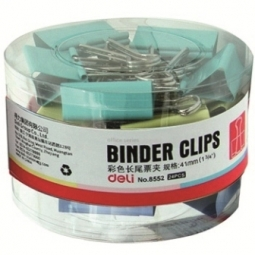 Binder Clip Deli 19Mm 40/Pack Assorted 8555