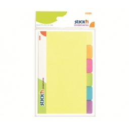 DIVIDER NOTES STICK N 148X98MM 6 NEON COLOR 21460
