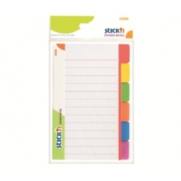 DIVIDER NOTES STICK N 148X98MM 6 PRINTED COLOR 21462