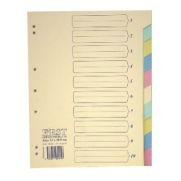 Separator Cardboard Color First 10102 A4 10Parts
