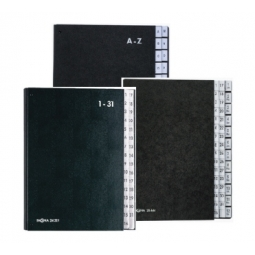 Signature Book Pagna A-Z 24 Compartments Black 24241-04