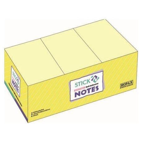 Stick Notes Stick N 38X 50Mm 100Sh Pastel Yellow 1Dz 21005