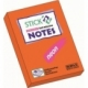 Stick Notes Stick N 76X 50Mm 100Sh Neon Orange 21160