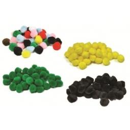 Pompon Hands On Crafts 25Mm 30/Pack Dark Pink S6120005