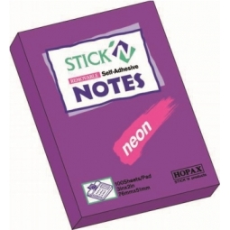 Stick Notes Stick N 76X 50Mm 100Sh Neon Purple 21208