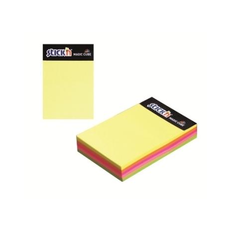 Stick Notes Stick N 101X 76Mm 280Sh Neon Magic Cube Desk 21255