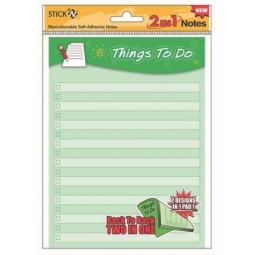 SECRET NOTES STICK N 2 IN 1 NOTES THINGS TO DO +CHECK LIST 21302