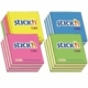 Stick Notes Stick N 50X 50Mm 250S Assorted Blue 21337