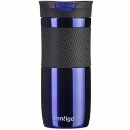 MUG CONTIGO BYRON 16 STAINLESS STEEL DOUBLE WALL VACUUM INSULATED 470ML DEEP BLUE 1000-0547