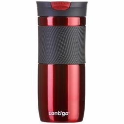 MUG CONTIGO BYRON 16 STAINLESS STEEL DOUBLE WALL VACUUM INSULATED 470ML RED 1000-0577